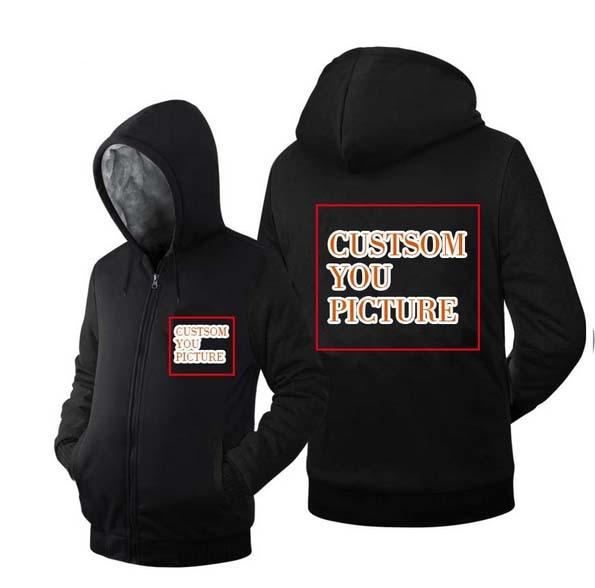 Fleece Zipper Jacket For Men With Your Custom Design