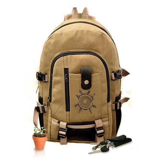 Trendy Naruto Theme Unisex Canvas Backpack