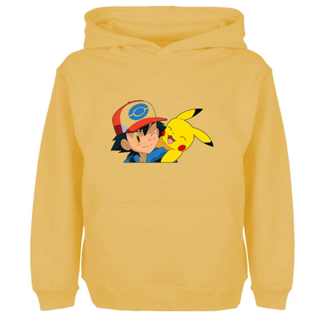 Colorful Anime Pokemon Print Unisex Hoodies