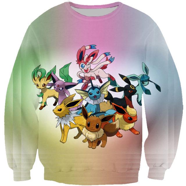 Funny Pokemon 3D Print Unisex Hoodies